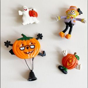 Vintage Halloween Brooches Lot Of 4